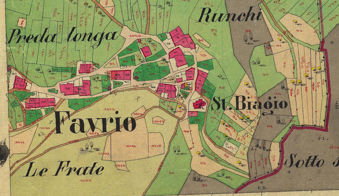 La mappa nel 1860